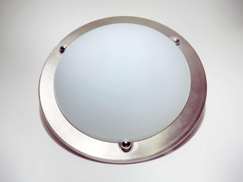 12v Dometic Deckenleuchte 322mm 2 Leuchtmittel Silber Geburstet