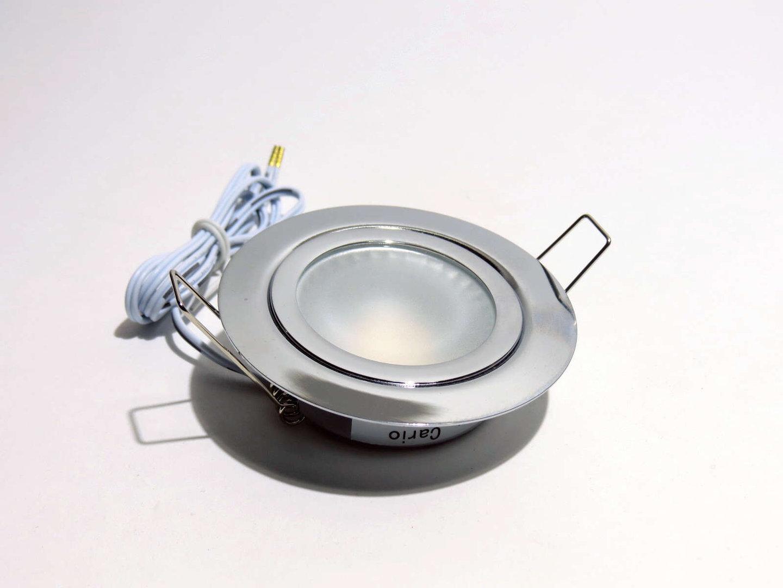 12V Dometic Einbauleuchte Cario2 LED 2W Sch.feder chrom