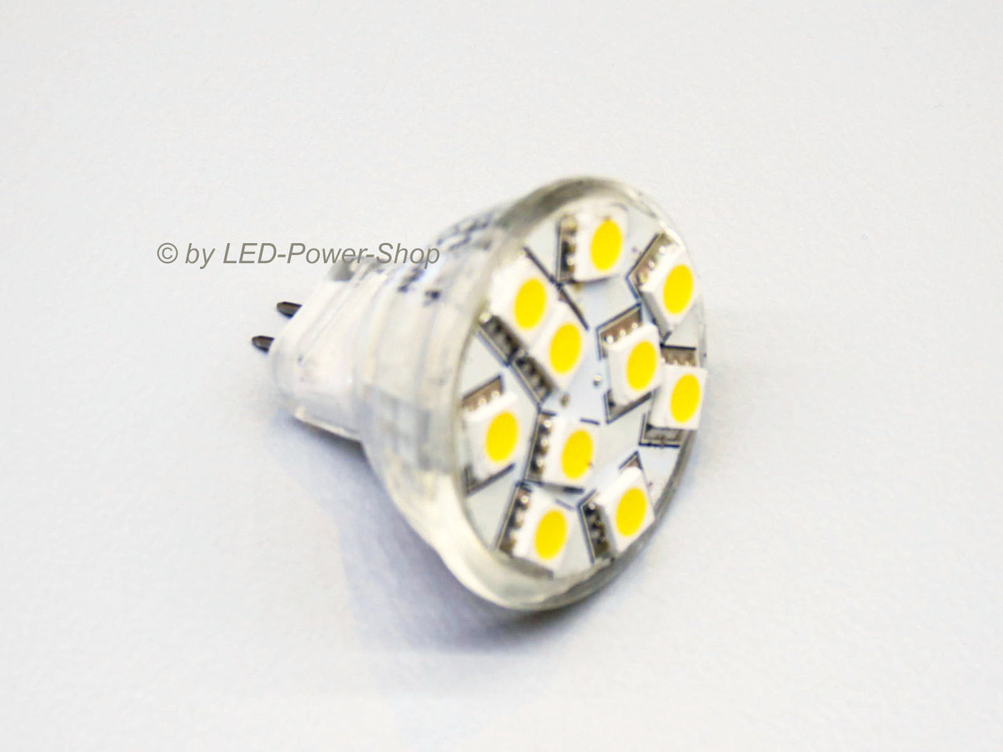 MR11 10 LED SMD 5mm 10-30V warmweiß