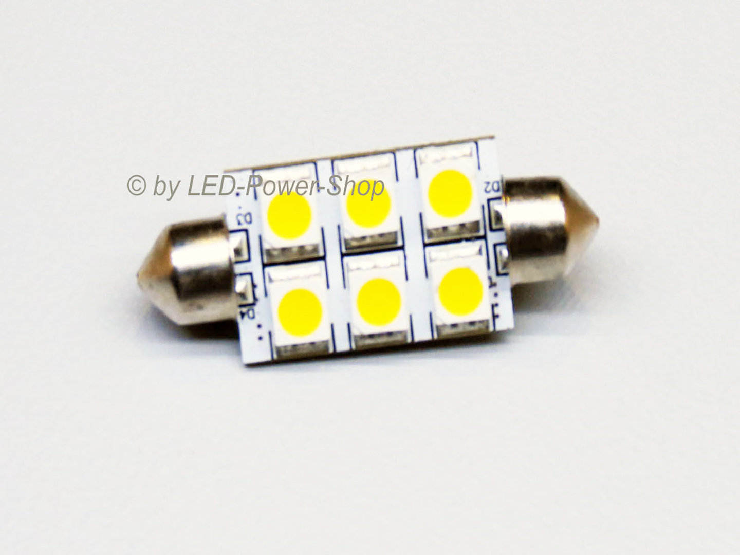 LED Soffitte 6 LED SMD 16x42mm 10-30V warmweiß