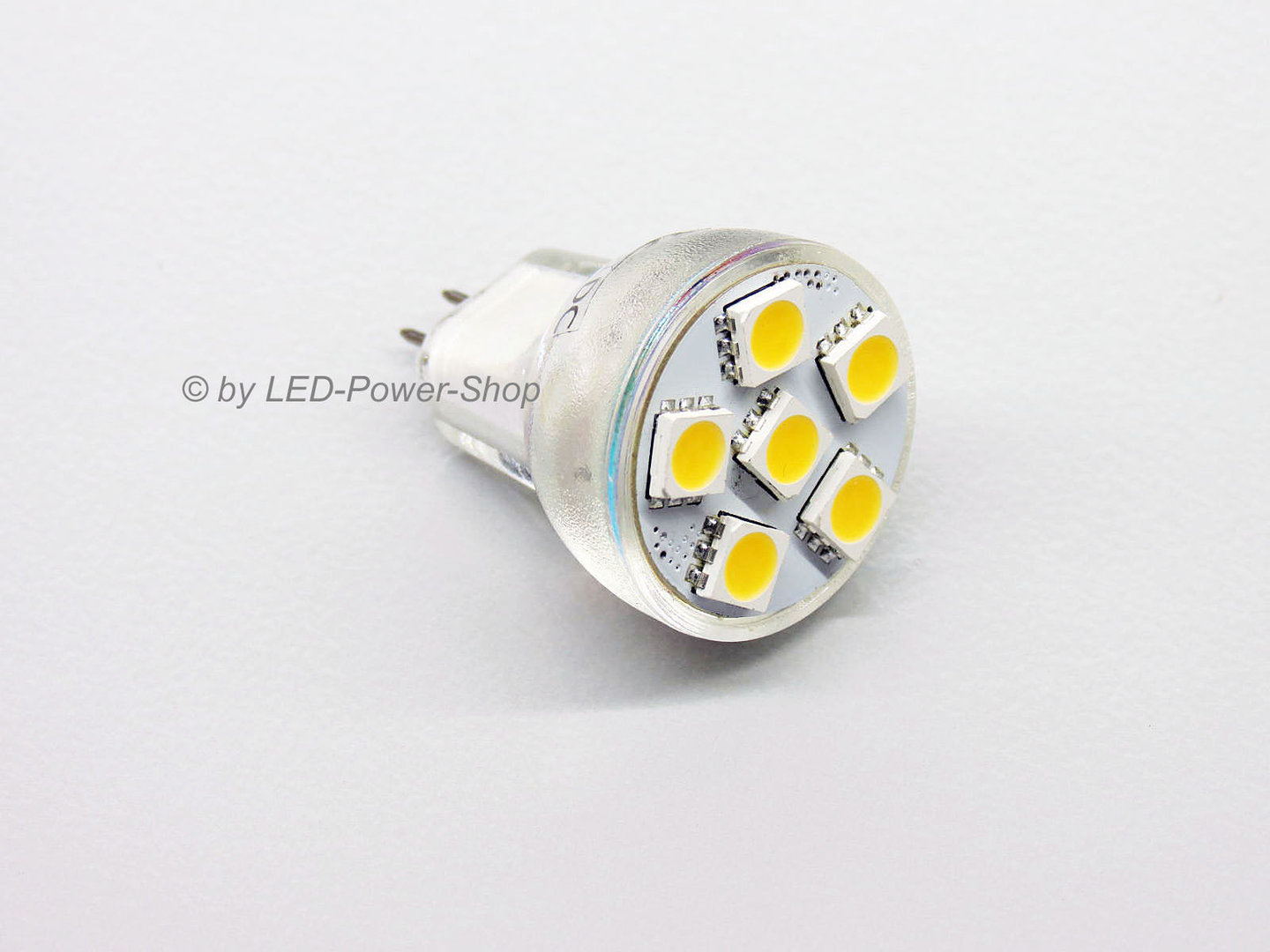 MR8 6 LED SMD 5mm 10-30V warmweiß