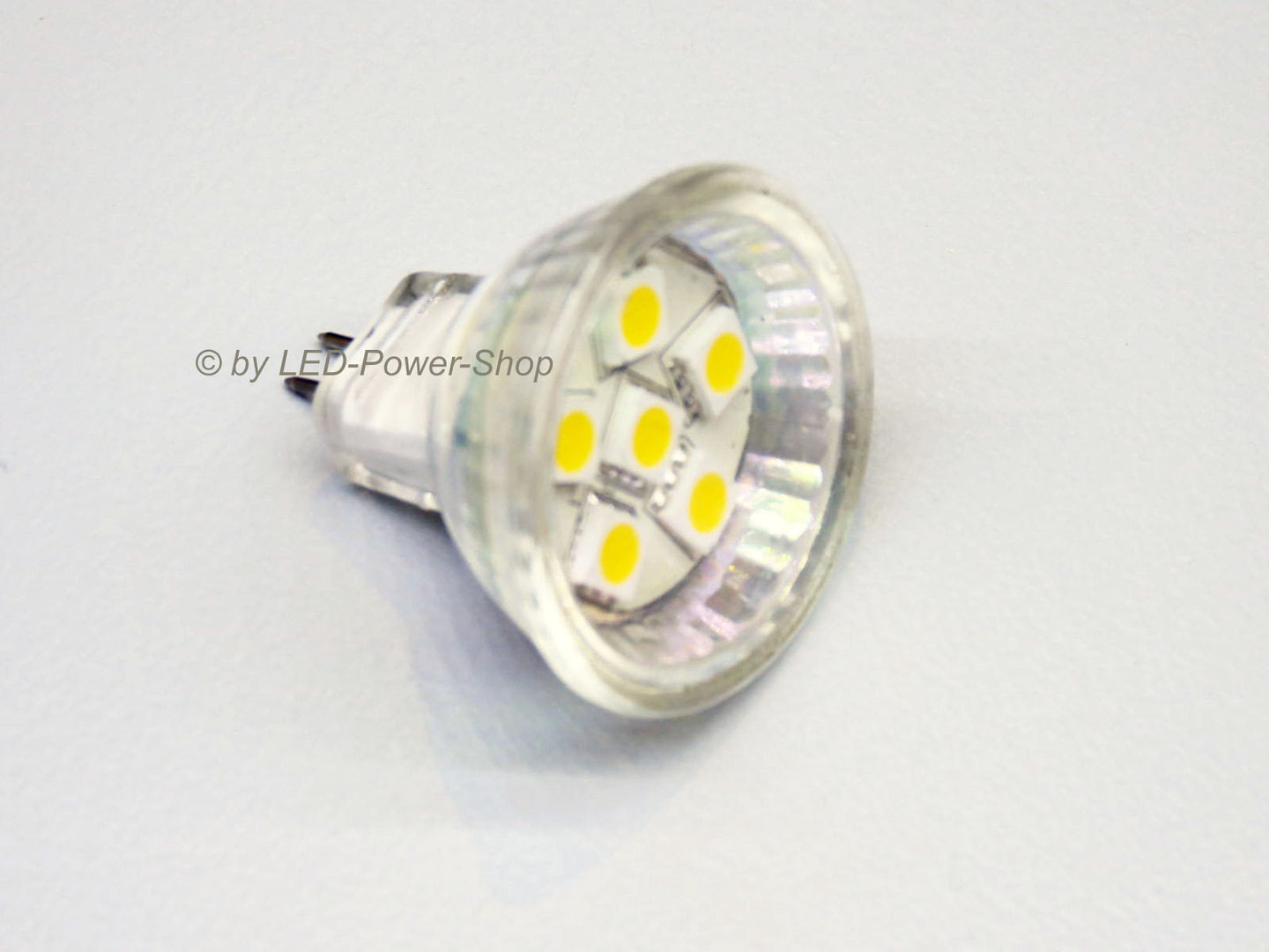 MR11 6 LED SMD 5mm 10-30V warmweiß