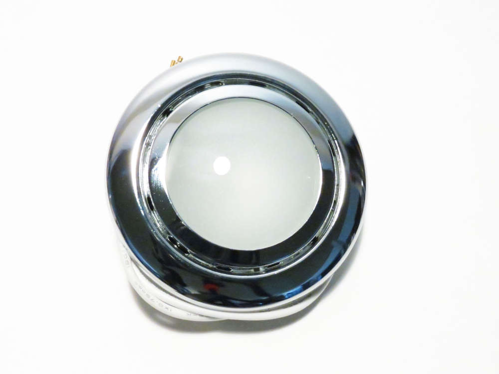 12v Dometic Recessed Light Elso Chrom With Leaf Spring