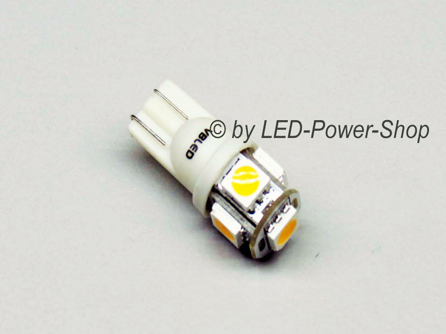 T10 5 LED SMD 12-14,5V warmweiß