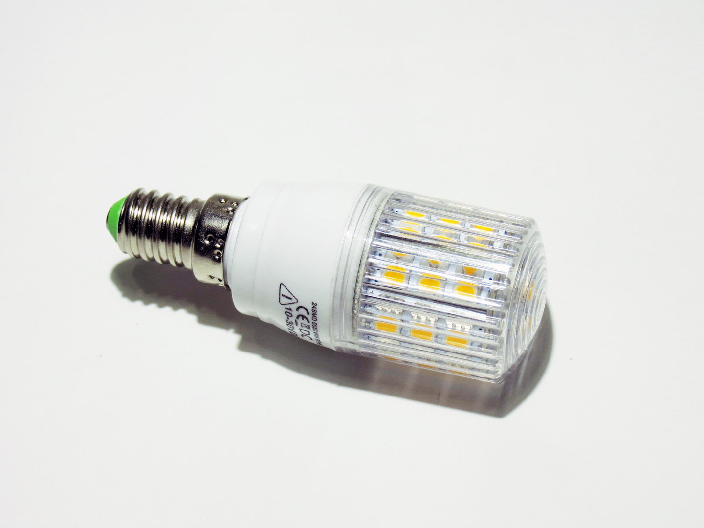 E14 24 LED SMD 10-30V warmweiß