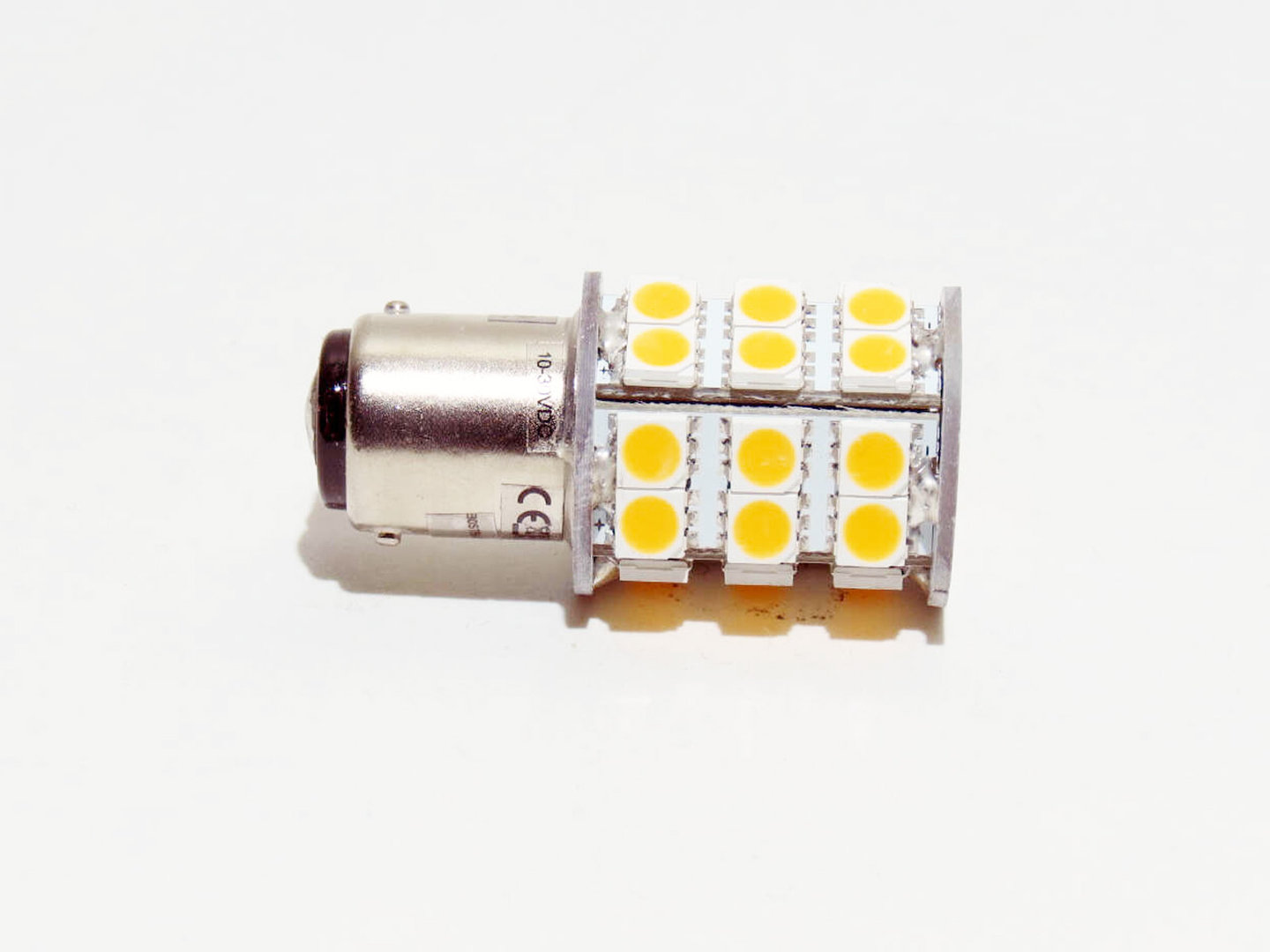 BA15d 30 LED SMD 10-30V warmweiß