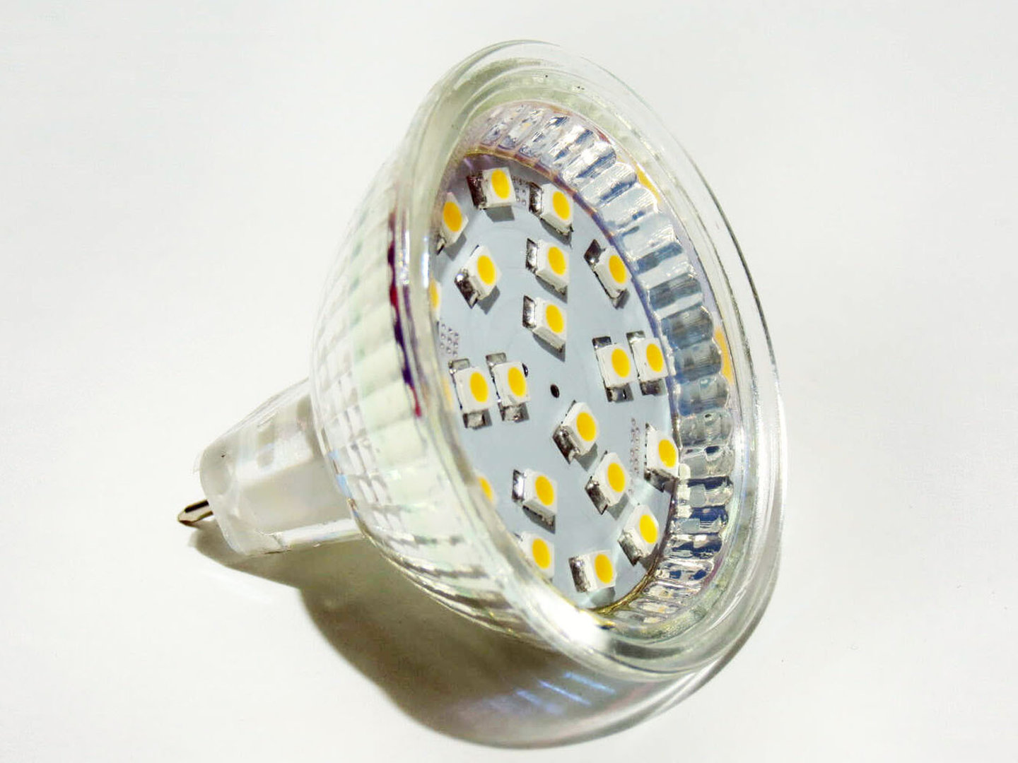 MR16 GU5.3 21 LED SMD 10-30V 125° warmweiß