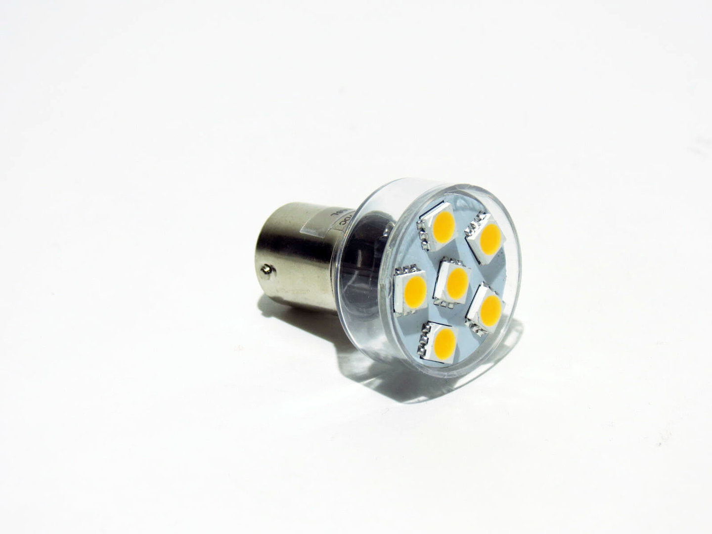 BA15s 6 LED SMD 10-30V warmweiß