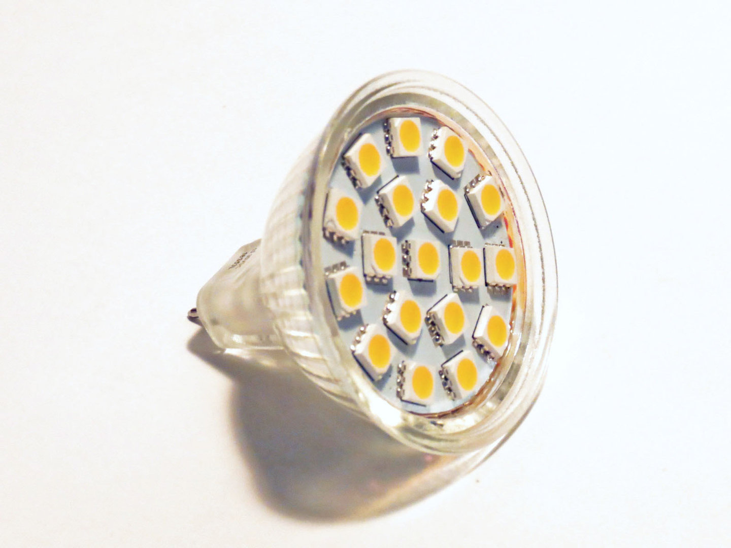 MR16 GU5.3 18 LED SMD 10-30V 125° warmweiß