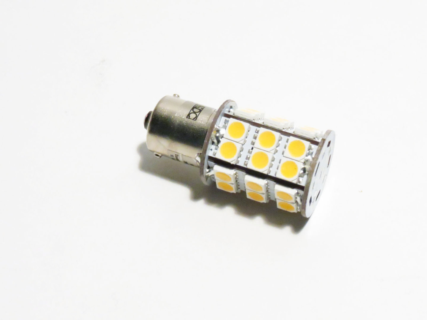 BA15s 30 LED SMD 10-30V warmweiß
